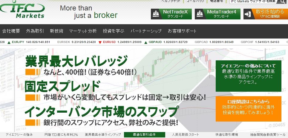 IFC Marketsについて 海外FX業者の評判と口コミ