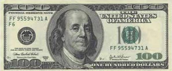 100ドル札