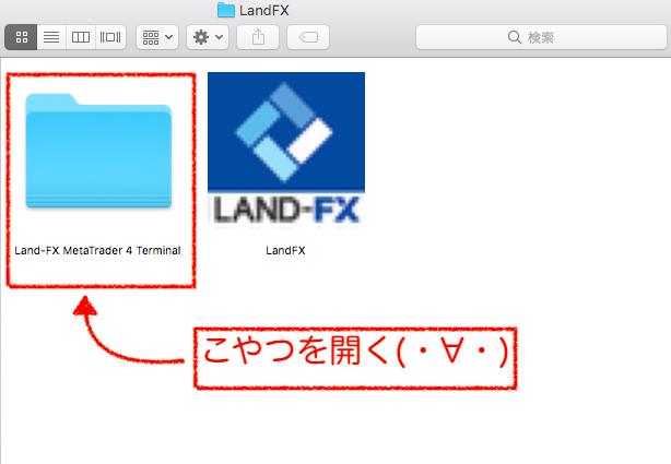 ダウンロードしたLandFXのファイルの中身