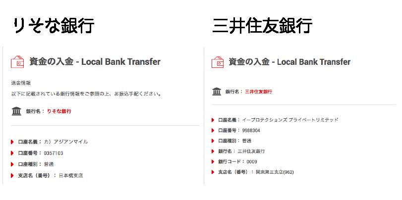 XMでの銀行送金の入金方法