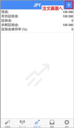 「トレード」の画面